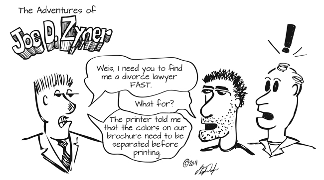 comic 3-24-11 graphic design printing lawyers divorce color marketing