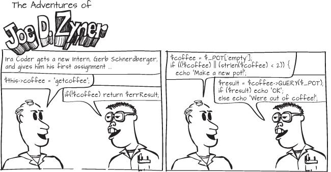 nerd programmer intern coffee Friday coder website design comic situational