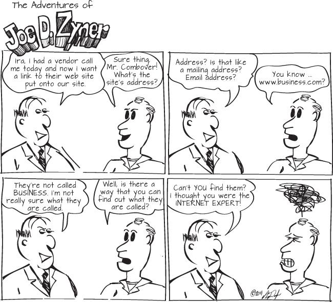 vendor links internet web design comic