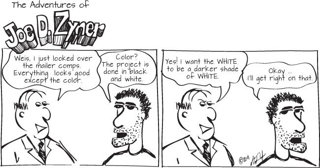 white mailer marketing print design graphic comic