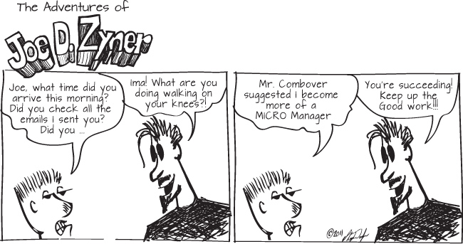 micro manager small funny situational comic design
