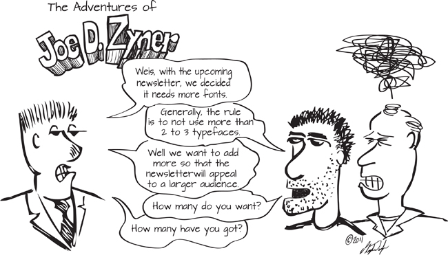 typefaces fonts newsletter marketing graphic design comic