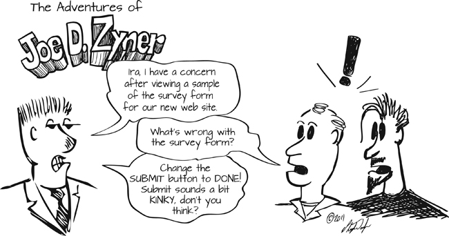web site design forms survey comic solutions